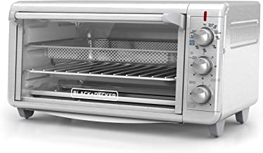 Black+Decker TO3265XSSD Extra Wide Crisp 'N Bake Air Fry Toaster Oven, Silver, Fits..