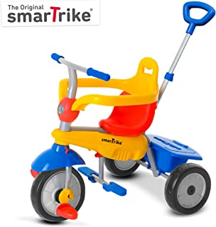 smarTrike Breeze 3 in 1 Baby Tricycle, Yellow/Red/Blue
