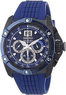 Seiko - Velatura - Reloj de Cuarzo para Hombre, Correa de plástico Color Azul