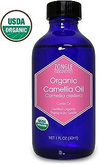 Zongle USDA Certified Organic Camellia Oil, Camellia Oleifera, 1 OZ