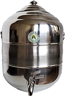 5 Gallon Counter Top Stainless Steel Water Beverage Dispenser with Faucet Spigot, handle and Lid to Dispense Chilled Water, Beer, Wine, Tea, Kombucha, Soda, Juice by American Ayurveda