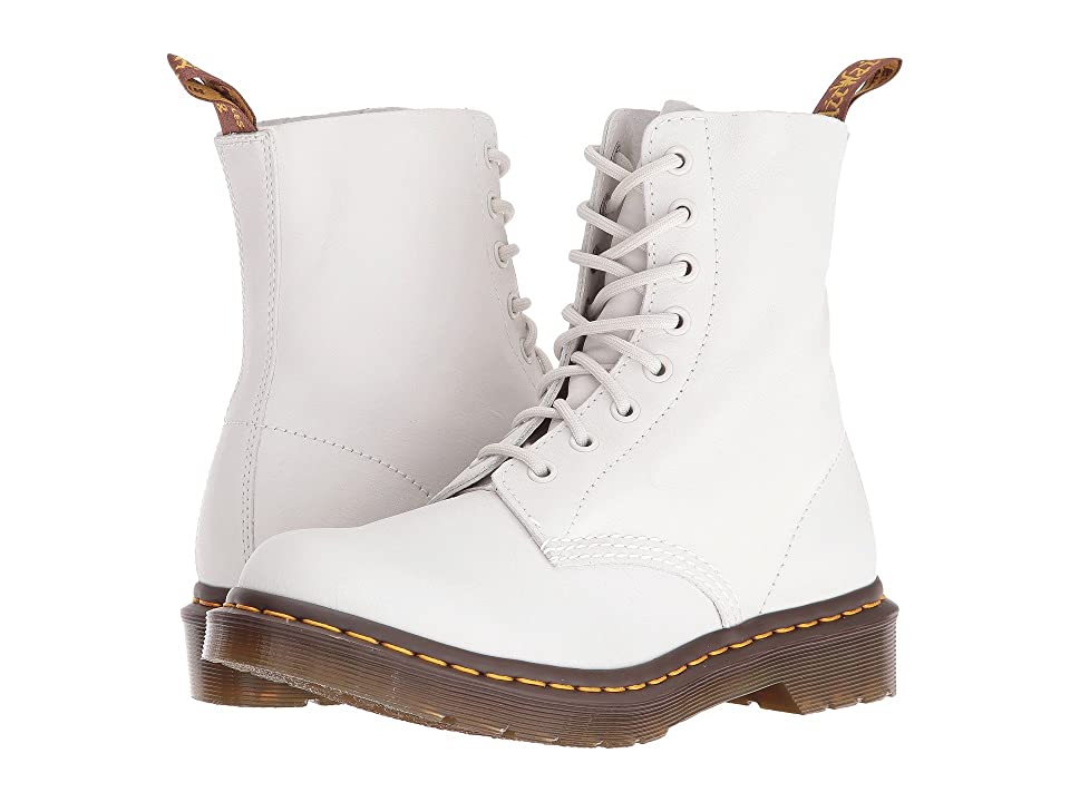 Dr. Martens Pascal 8-Eye Boot (White Virginia) Women