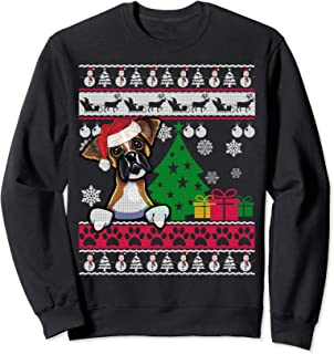 Boxer Dog Ugly Christmas Sweater Xmas Dog Gift Shirt