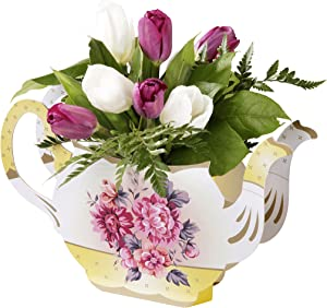 Talking Tables Truly Scrumptious Floral Vintager Teapot Vase Decoration for a Tea Party, Multicolor