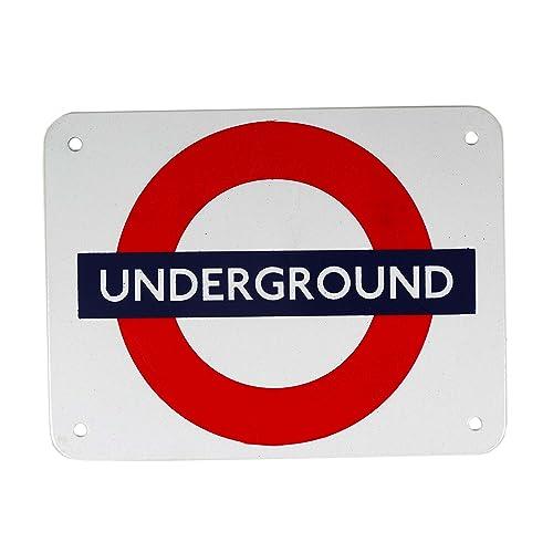 "ba /""Underground/"" London Underground roundel enamel sign MEDIUM 210mm x 165mm"