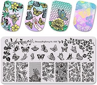 612Cm Nail Stamping Plates Nail Template Flower Animal Pattern Nail Stamp Nail Art Stamp Image Template 68