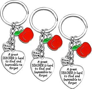 3PCs Teacher Gifts for Women Teacher Keychain Teacher Appreciation Gifts hank You Gifts for Teachers