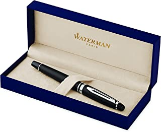 Waterman Expert Matte Black Rollerball Pen CT, Fine Point, Black Ink
