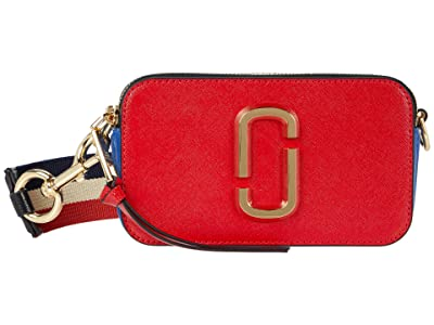Marc Jacobs Snapshot USA Crossbody (Red Pepper Multi) Wallet Handbags