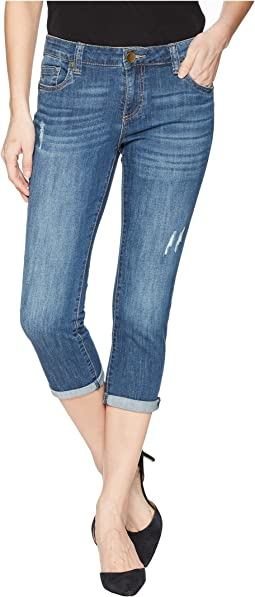KUT from the Kloth - Petite Maggie Skinny Crop Boyfriend in Rendered