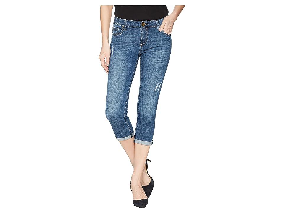 KUT from the Kloth Petite Maggie Skinny Crop Boyfriend in Rendered (Rendered) Women's Jeans
