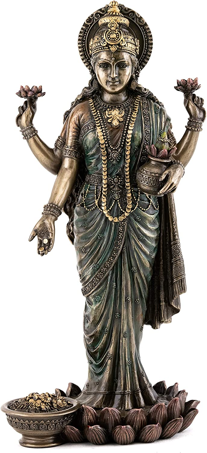 Top Max 90% OFF Collection Lakshmi Statue on Lotus of Platform 2021 spring and summer new - Goddess Wea