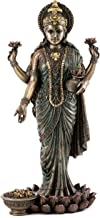 Top Collection Lakshmi Statue on Lotus Platform - Goddess of Wealth, Prosperity, Wisdom and Fortune Sculpture in Premium Cold Cast Bronze- 10.25-Inch Collectible Hindu Figurine (Cold Cast Bronze)