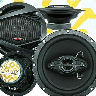 4X Gravity SGR654 6.5 Inches 400 Watts Maximum Power Handling 4-Way Car Audio Full Range Speakers Anti-Resonant Stamped St... photo