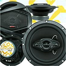 $44 » 4X Gravity SGR654 6.5 Inches 400 Watts Maximum Power Handling 4-Way Car Audio Full Range Speakers Anti-Resonant Stamped St...