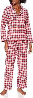 Amazon Brand - Iris & Lilly Women's Flannel Pyjama Set