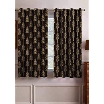Buy JUPON Kitchen Window Blackout Curtain Pack of 2 Piece with 3 Layers  Weaving Technology & Solid Grommet Pattern (W - 48inch X 36inch -L) Gold  Online at Low Prices in India - Amazon.in