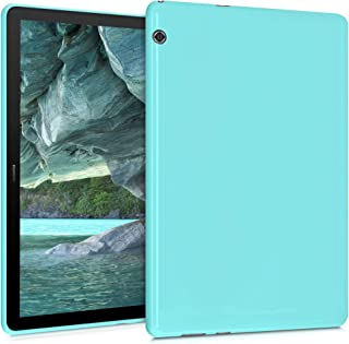 kwmobile TPU Silicone Case Compatible with Huawei MediaPad T5 10 - Soft Flexible Shock Absorbent Cover - Mint