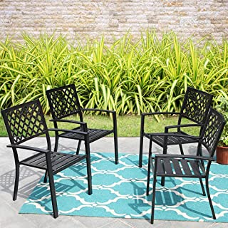 outdoor chairs black
