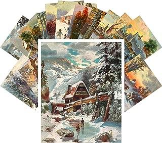 Postcard Set 24pcs Winter Country Landscapes Vintage Christmas Art