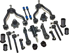 PartsW 21 Pc Complete Suspension Kit for Blazer K2500 K1500 Yukon/Adjusting Sleeves, Control Arms with Ball Joints, Tie Rod End, Idler & Pitman Arms, Front Sway Bar Frame Bushings - 27mm (1.06 Inch)