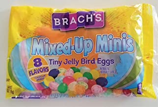 Brach's (1 Bag) Mixed-Up Minis Tiny Jelly Bean Easter Bird Eggs 8 Flavors Classic & Speckled 7 oz 198 g