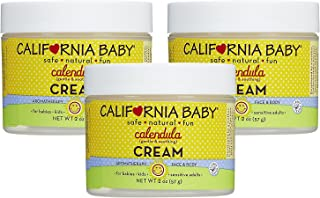 California Baby Calendula Moisturizing Cream (2 oz.) Hydrates Soft, Sensitive Skin | Plant-Based, Vegan Friendly | Soothes irritation caused by dry skin on Face, Arms and Body | 3 Pack