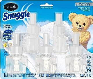 Renuzit Snuggle Scented Oil Refill for Plugin Air Fresheners, Linen Escape, 5Count