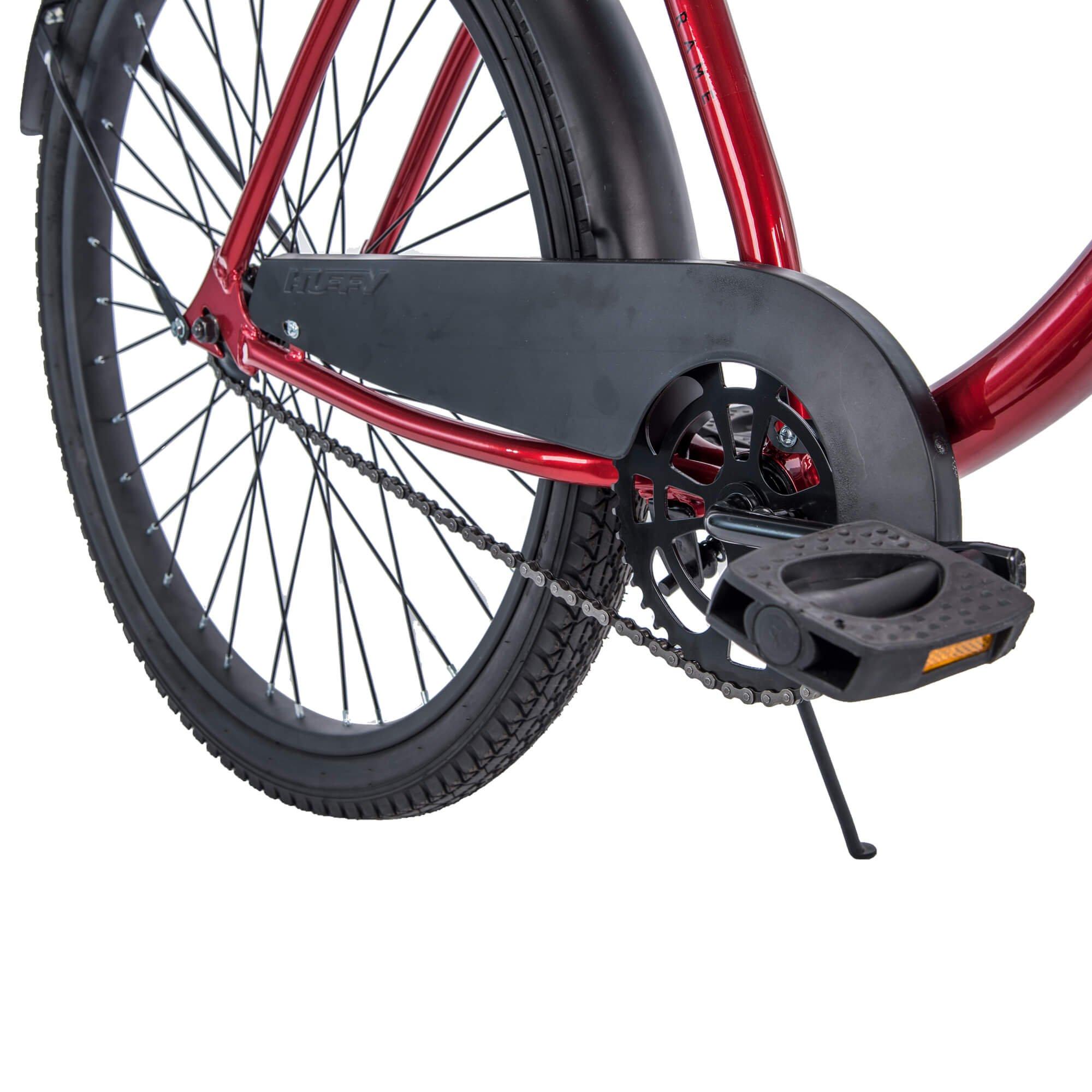 "Huffy 26/"" Cranbrook Beach Cruiser Comfort Bike for Men Red"