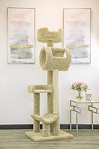 New Cat Condos Solid Wood Cat Climbing Tower Cat Tree