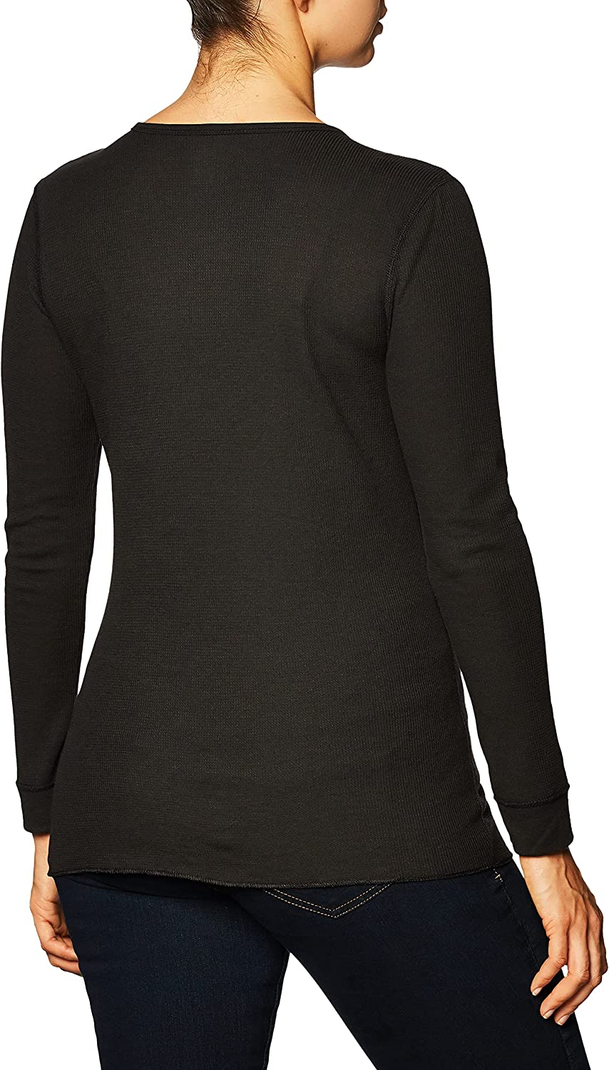 Fruit of the Loom Women's Micro Waffle Premium Thermal V-Neck