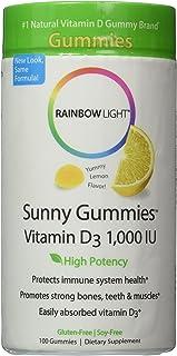 Rainbow Light Vitamin D3 Sunny Gummies 1000 IU, 200 Count