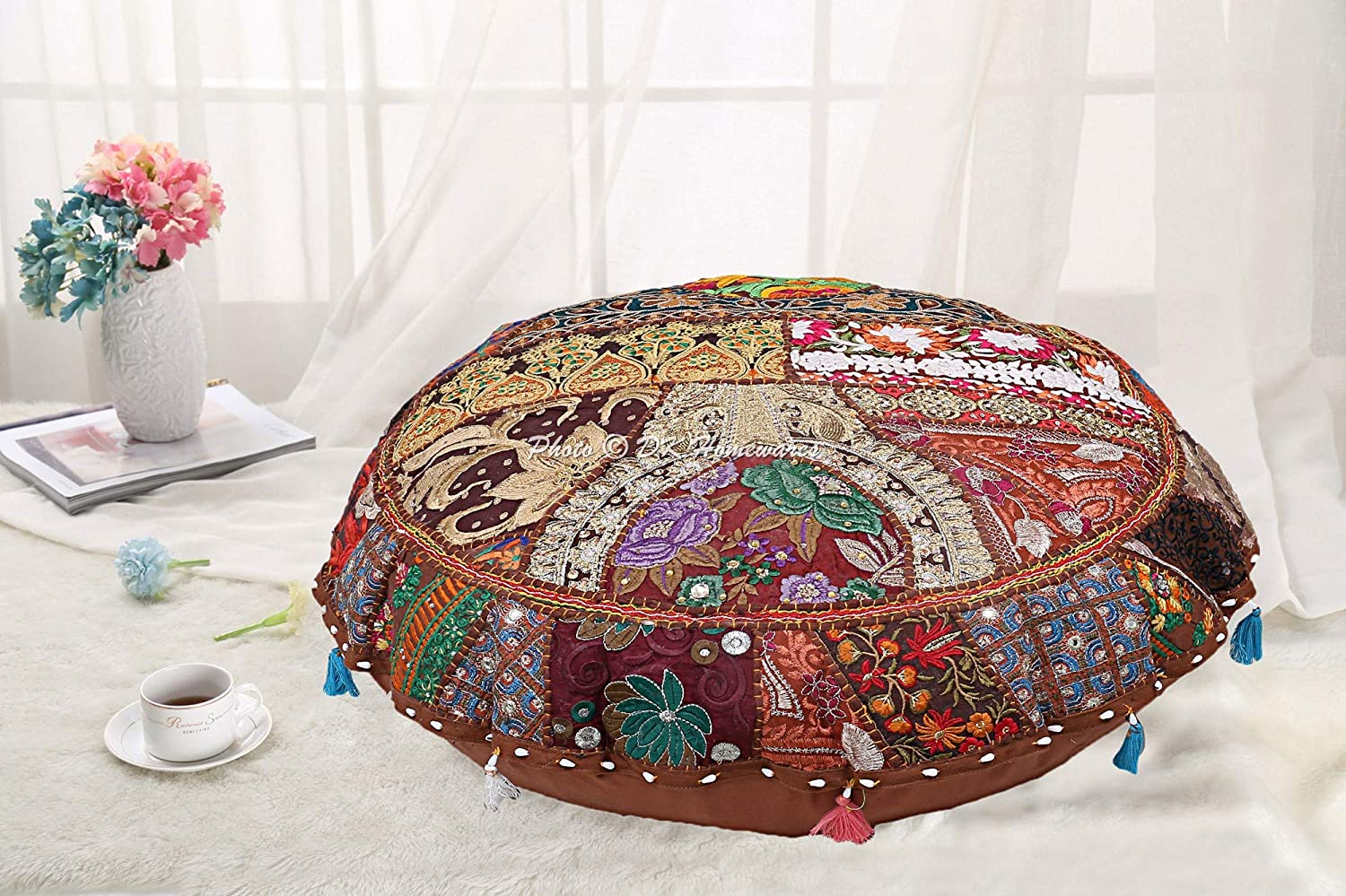 DK Homewares Round Traditional Bohemian Excellent Floor depot Cushions for Kids