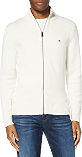 Tommy Hilfiger Men's Chunky Cotton Zip Through Cardigan Sweater