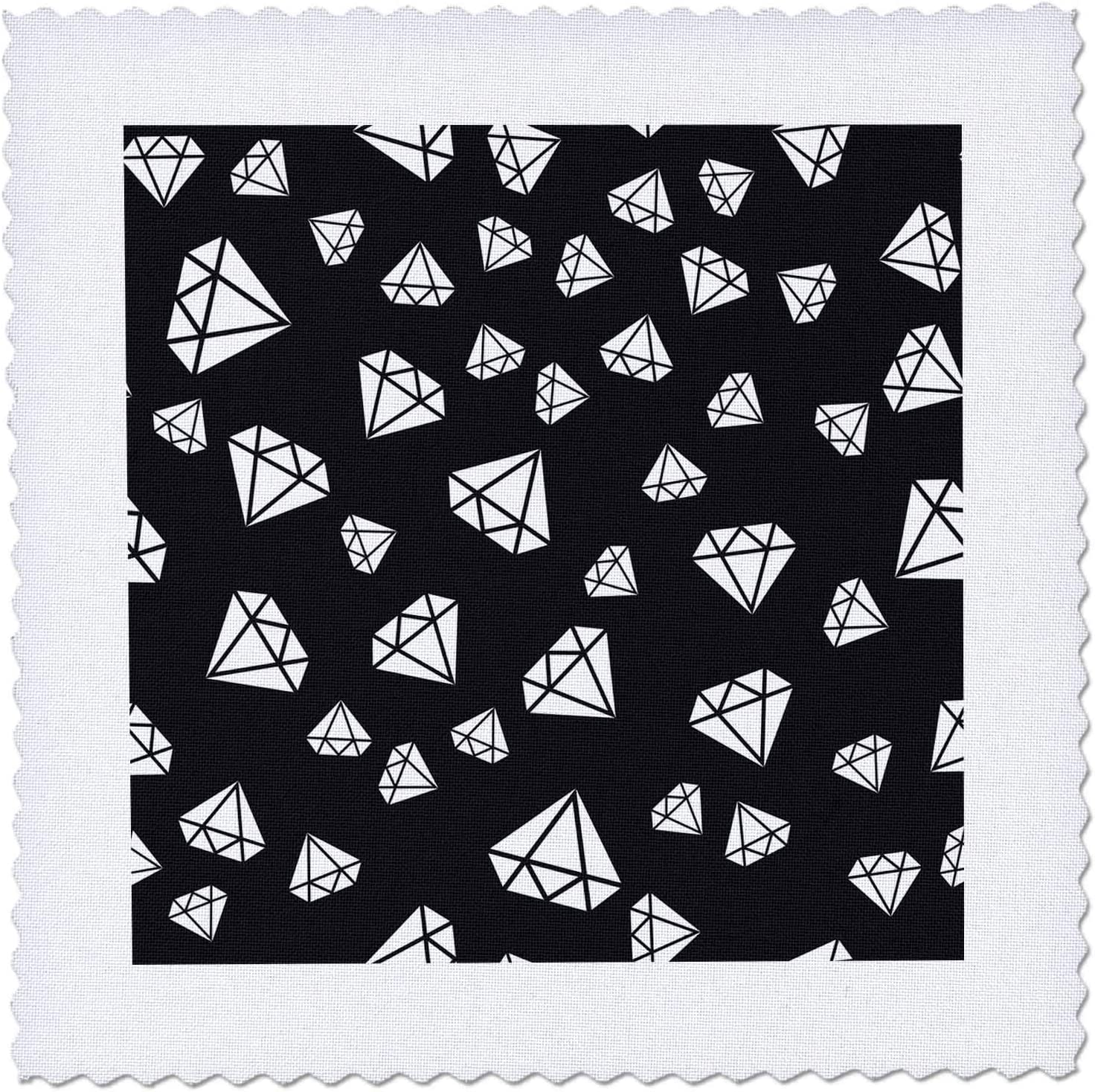 Choice 3dRose Contemporary Black and White Of Image Diamond shipfree Pa Outlines