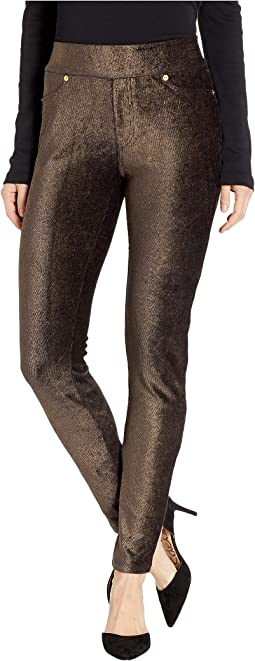 Foil Cord Pull-On Leggings