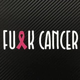 FU*K CANCER Breast Cancer Ribbon Pink Decal Sticker Custom Die-cut Vinyl