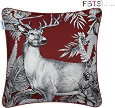 FBTS Prime Throw Pillow Covers 18 x 18 Inches Alternative Silk Elk Pattern Decorative Square Cushion Covers Pillow Sham for Couch Bed Sofa Indoor Furniture