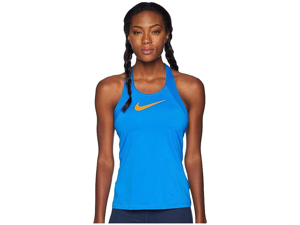 Nike Pro Mesh Training Tank (Signal Blue/Cone) Women