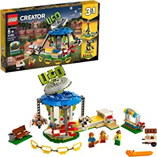 LEGO Creator 3in1 Fairground Carousel 31095 Building Kit, New 2019 (595 Pieces)