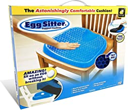 Egg Sitter Egg Sitter Seat Cushion With Non-Slip Cover Breathable Honeycomb Design Absorbs Pressure Points, Blue/Black