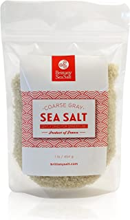 Dried French Coarse Gray Sea Salt for Grinders by Brittany Sea Salt - Premium Gourmet Sea Salt -