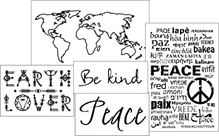 World Peace Temporary Tattoo Set - 5 Tattoo Designs, 10 Temporary Tattoos - 50% Bulk DISCOUNT