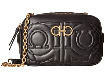 Salvatore Ferragamo Quilted Crossbody (Nero) Handbags