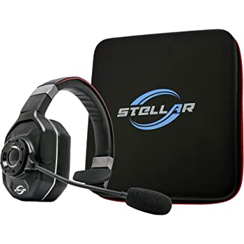 Stellar Electronic Pluto - 99% Noise Canceling Bluetooth Headset for Truckers and Drivers
