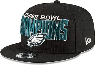 Philadelphia Eagles New Era Super Bowl LII Champions 9FIFTY Adjustable Snapback Hat Black