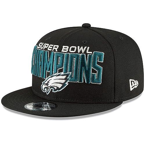 716fbe67b806e Philadelphia Eagles New Era Super Bowl LII Champions 9FIFTY Adjustable Snapback  Hat Black