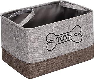Morezi Boîte de rangement en toile avec poignée, panier à jouets pour chien, convient pour transporter des jouets pour chi...