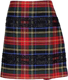 c9ec8978ee J Crew Women's Mini Skirt in Lurex Stewart Tartan 12 K2126 Multicolor Plaid
