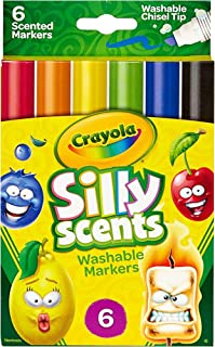 Crayola Silly Scents Scented Markers, Washable, 6Count,58-8197